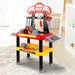 Keezi Kids Workbench Play Set - Red - Baby & Kids > Toys