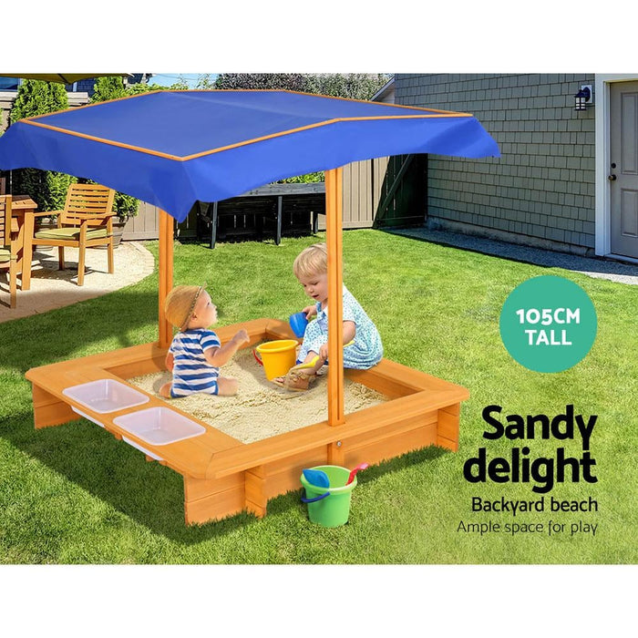 Keezi Outdoor Canopy Sand Pit - Baby & Kids > Toys