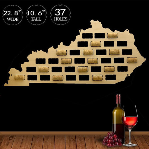 Kentucky of the United States Wine Cork Map Rustic Kentucky Sign Wine Cork Home Decor Wood Cutout Multiple Sizes Cork Holder