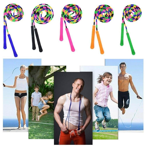 Kids Adults Jump Rope with Colorful Beaded Segmentation + Anti Skid Handles Exercise Sports Skipping Rope Dropshipping