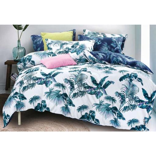 King Size 3pcs Tropical Plant Quilt Cover Set