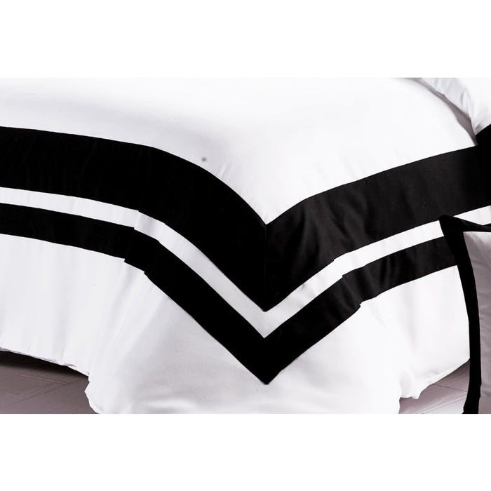 King Size Black and White Quilt Cover Set (3pcs) - Home &