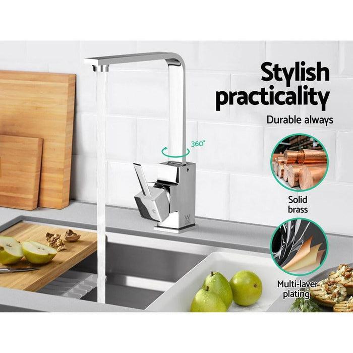 Kitchen Mixer Tap - Silver - Home & Garden > DIY