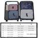 E2015 - Kono 6 Piece Polyester Travel Luggage Organiser Bag