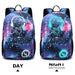 E6880 - Kono Galaxy Glow In The Dark Backpack - Blue