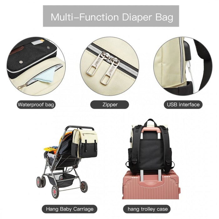 E1970 - Kono Multi Compartment Baby Changing Backpack with