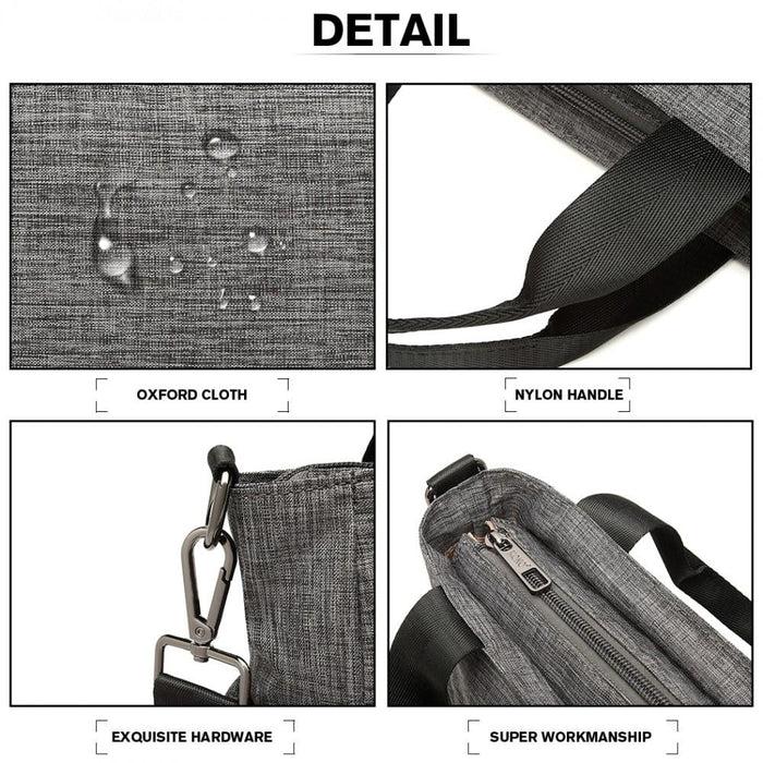 LB6923 - Kono Multi-Compartment Tote Shoulder Bag - Grey