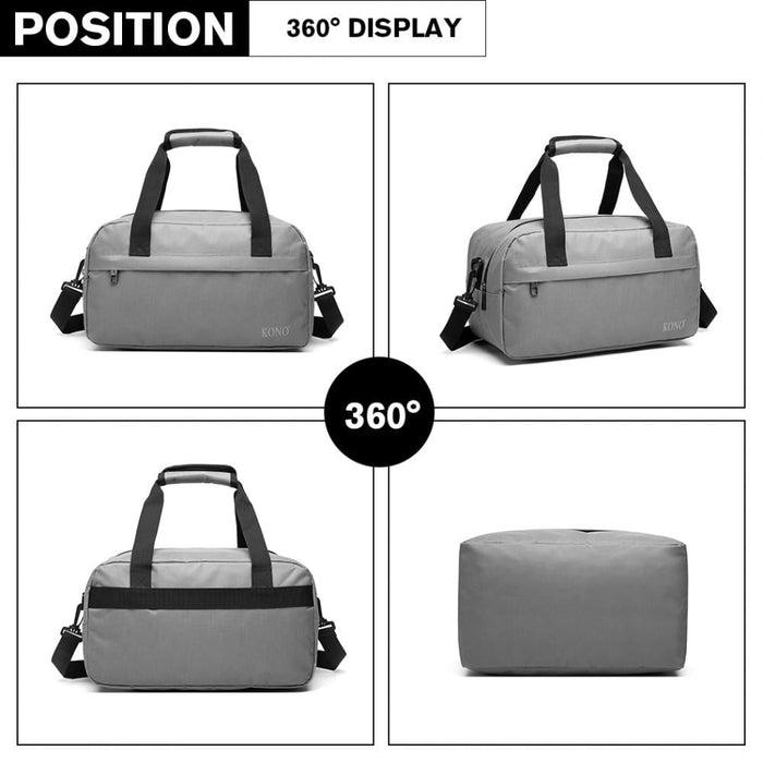 E1960 - Kono Multi Purpose Men's Shoulder Bag - Grey