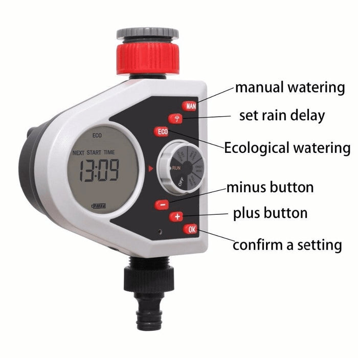 LCD Display Automatic Watering Sprinkler Timer and Rain