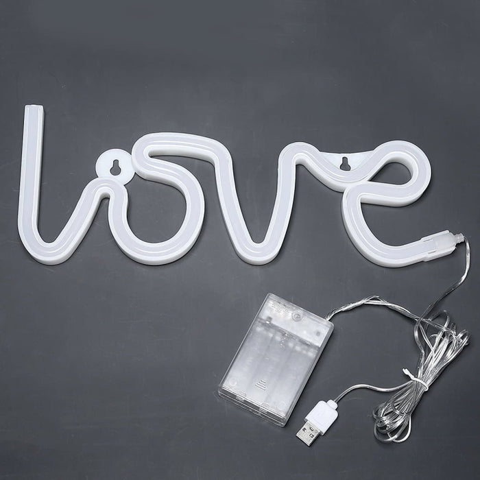 Led Neon Love Light-powered with both Usb and