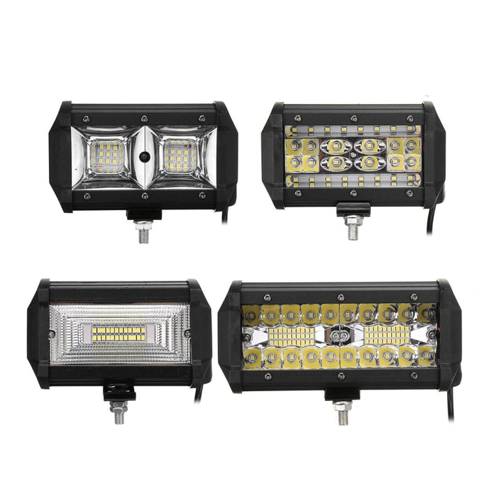 LED Work Light Bar Spot Flood Driving Fog Light 6000K White For Jeep Off-Road Pickup Wagon UTV