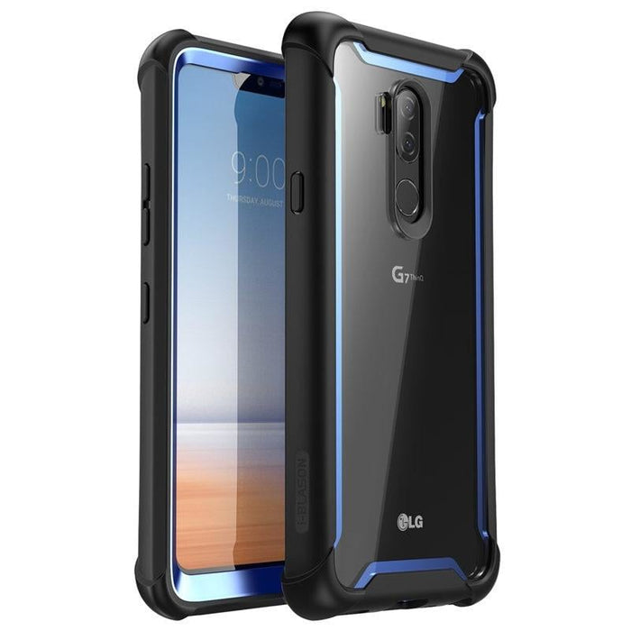 For Lg G7 Case 6.1 Inch Ares Full-body Rugged Clear Bumper Cover with Built-in