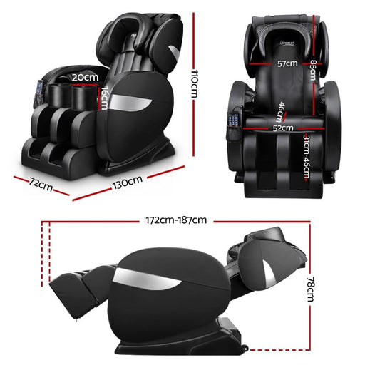 Livemor Electric Massage Chair - Black - Health & Beauty >