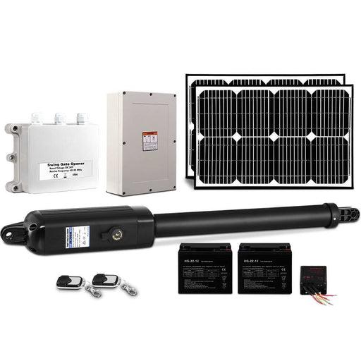 LockMaster 40W Swing Gate Opener Auto Solar Power Electric Remote Control 600KG