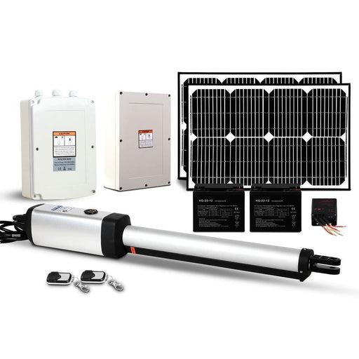 LockMaster Swing Gate Opener 40W Auto Solar Power Electric Remote Control 600KG
