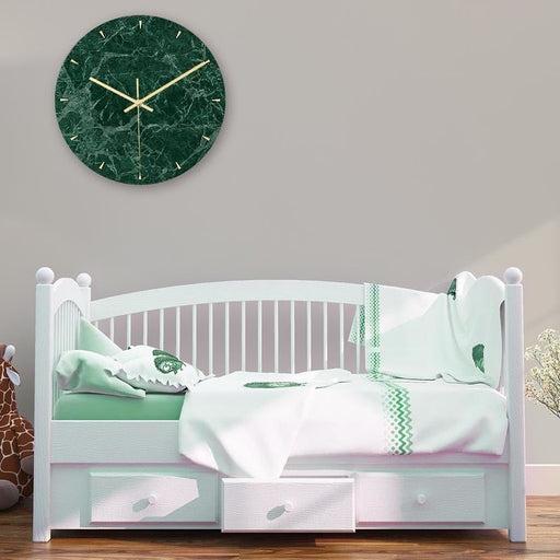 Loskii CC009 Creative Marble Pattern Wall Clock Mute Wall Clock Quartz Wall Clock For Home Office Decorations