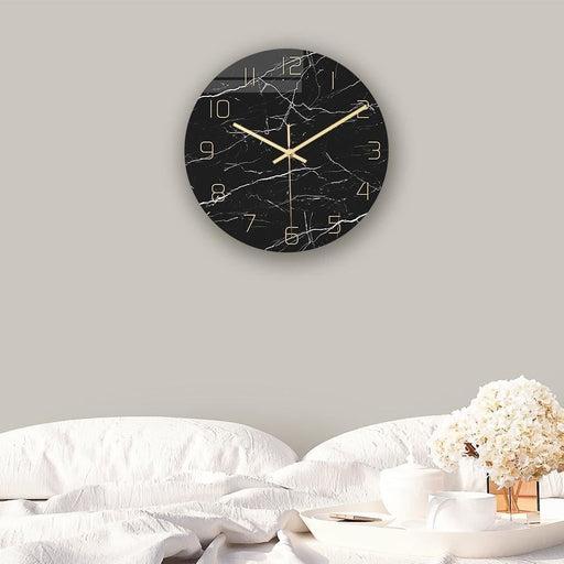 Loskii CC010 Creative Marble Pattern Wall Clock Mute Wall Clock Quartz Wall Clock For Home Office Decorations
