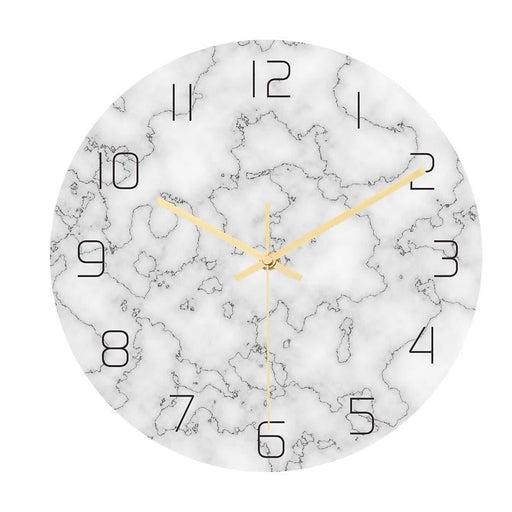 Loskii CC014 Creative Marble Pattern Wall Clock Mute Wall Clock Quartz Wall Clock For Home Office Decorations