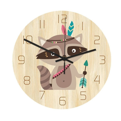 Loskii CC028 Creative Squirrel Pattern Wall Clock Mute Wall Clock Quartz Wall Clock For Home Office Decorations