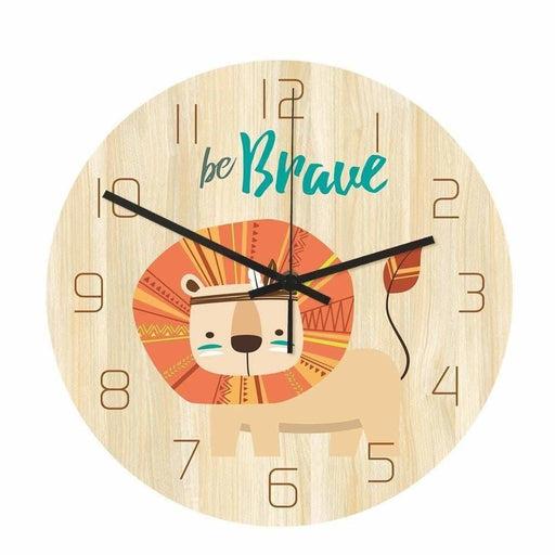 Loskii CC032 Creative Lion Pattern Wall Clock Mute Wall Clock Quartz Wall Clock For Home Office Decorations