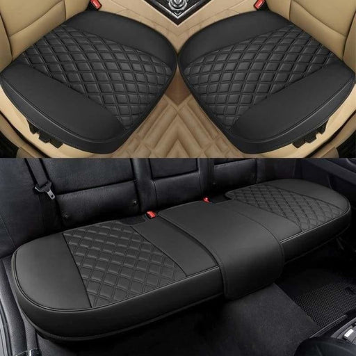 Luxury Leather Car Seat Cover Universal Set Full Cover Fit for Most Cars Four Seasons Protector Mats Auto Interior Accessories