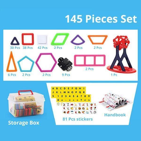Magnetic Building Blocks   145 Pcs goslash fast delivery fast delivery