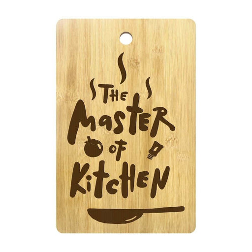 The Master Of Kitchen Custom Engraved Cutting Board Personalized Kitchen Supplies Chopping Board Gift for Gastronome Cooks Chefs