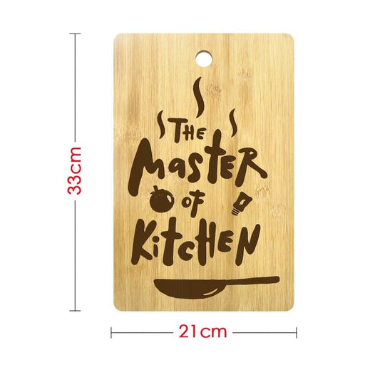 The Master Of Kitchen Custom Engraved Cutting Board Personalized Kitchen Supplies Chopping Board Gift for Gastronome Cooks Chefs (320x210mm)