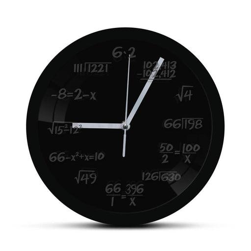 Math Wall Clock with LED illumination Math Formula Pop Equation Luminous Wall Clock Watch Scicence Educational Gifts For Kids