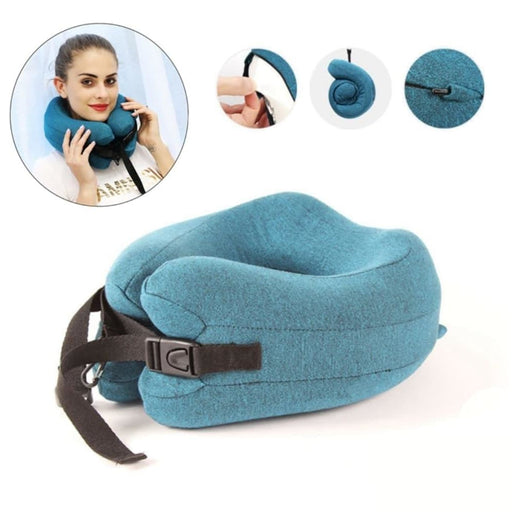 Memory Foam Travel Neck Pillow Head Chin Support Cushion for Sleeping on Airplane Car Office Pillows Travel Headrest Cushion