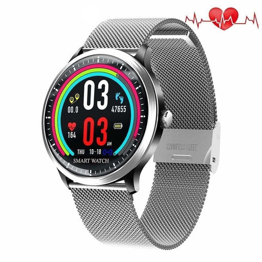 RUNDOING NY08 smart watch men IP68 waterproof Message push Heart rate track Fitness tracker Men Sport smartwatch For IOS Android