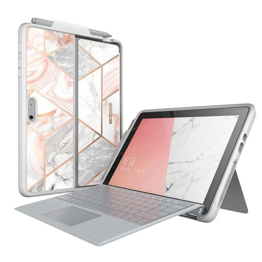 For Microsoft Surface go 2 / Surface go Marble Protective Cover with Pen Holder