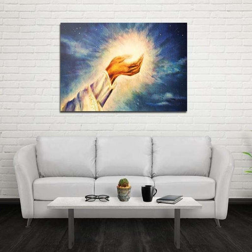 Miico Hand Painted Oil Paintings Light of Christ Wall Art Home Decoration Paintings