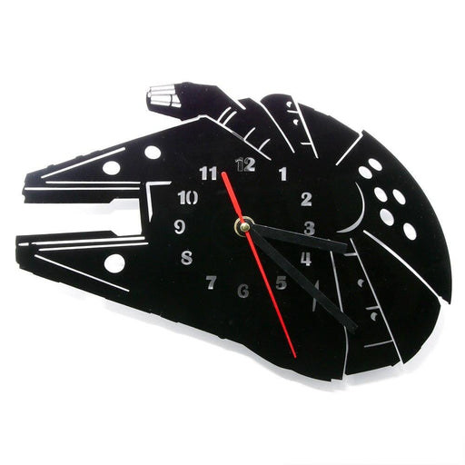 Bucket of Bolts Space Vehicle  Acrylic Modern Wall Clock Fictional Spaceships Design Laser Engrave Decorative Clock Wall Watch