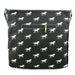 L1104H - Miss Lulu Canvas Square Bag Horse Black