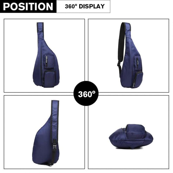 LB1934 - Miss Lulu Casual Single Strap Sling Backpack - Navy