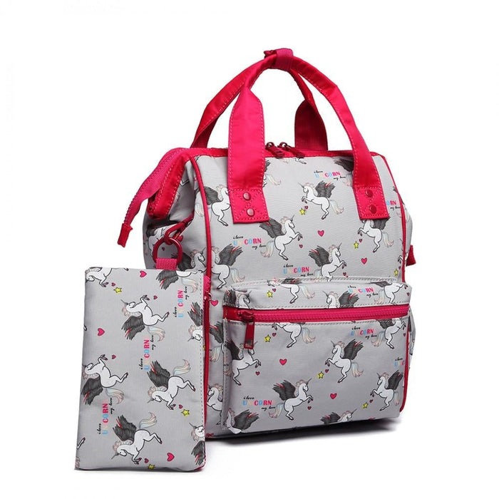 LB6896 - Miss Lulu Child's Unicorn Backpack with Pencil Case