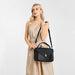 LT2052 - Miss Lulu Functional Satchel Handbag - Black