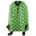 E1401D2 - Miss Lulu Large Backpack Polka Dot Green