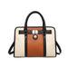 LG1944 - MISS LULU LEATHER LOOK PANEL SHOULDER BAG - BEIGE