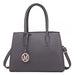 LT1748 GY - Miss Lulu Multi-Compartment Large Handbags Grey