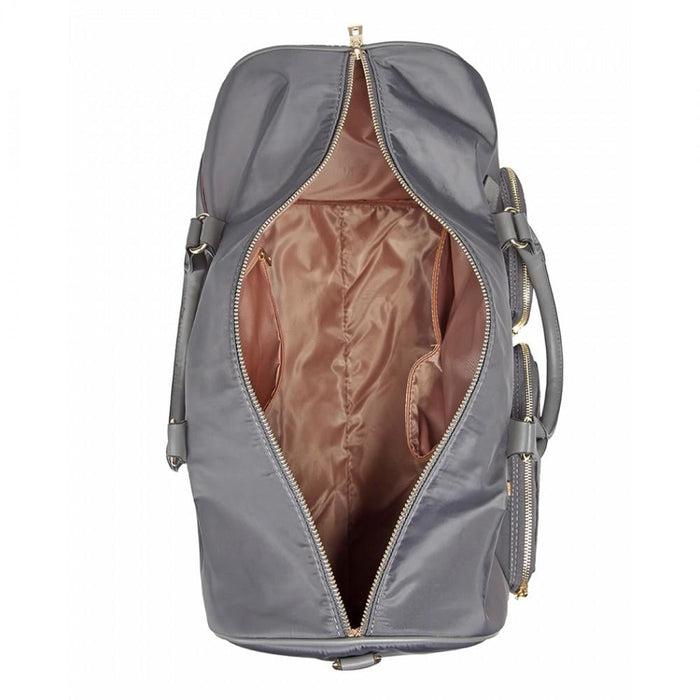 LT6853 -Miss Lulu Nylon Multi Pocket Hand Luggage Travel Bag