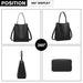 LB6926 - Miss Lulu Soft Leather Look Handbag - Black