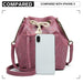 LT6812 - Miss Lulu Sparkle Canvas Drawstring Cross Body Bag