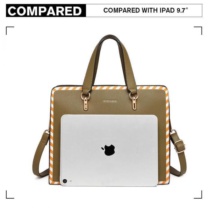 LT1953 - Miss Lulu Stripe Design Shoulder Bag - Green