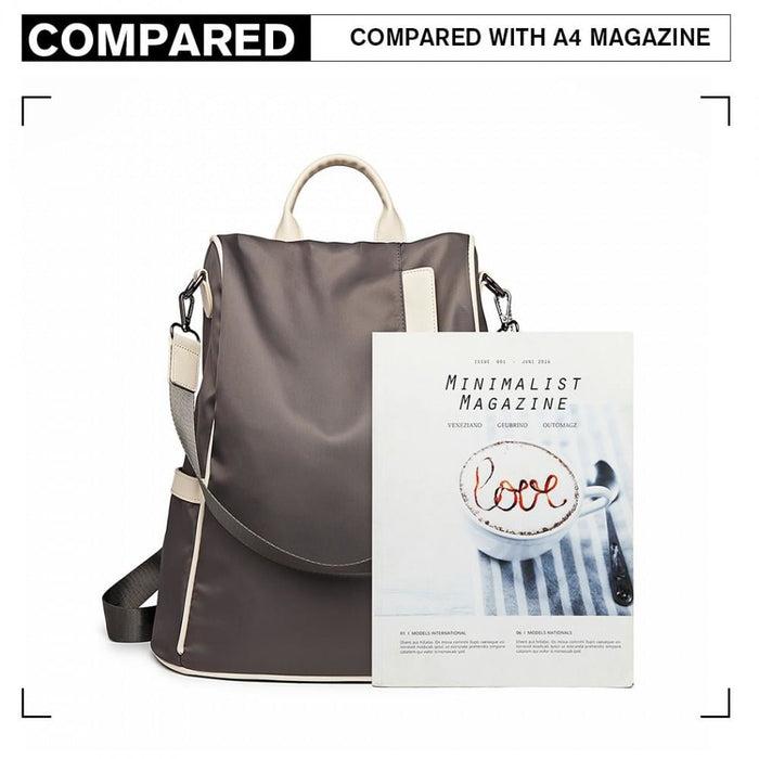 LG6917 - Miss Lulu Two Way Anti-theft Backpack with Pom Pom
