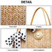 LH2010 - Miss Lulu Woven Straw Design Shoulder Bag with