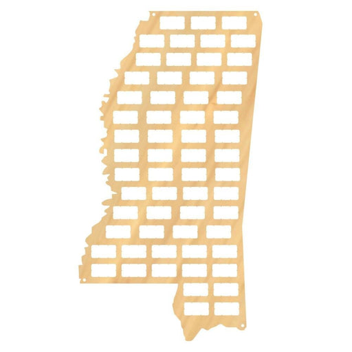 The Magnolia State Mississippi State Wine Cork Map Mississippi Wooden Cork Display Collection Wood Craft Map Home Bar Wall Decor