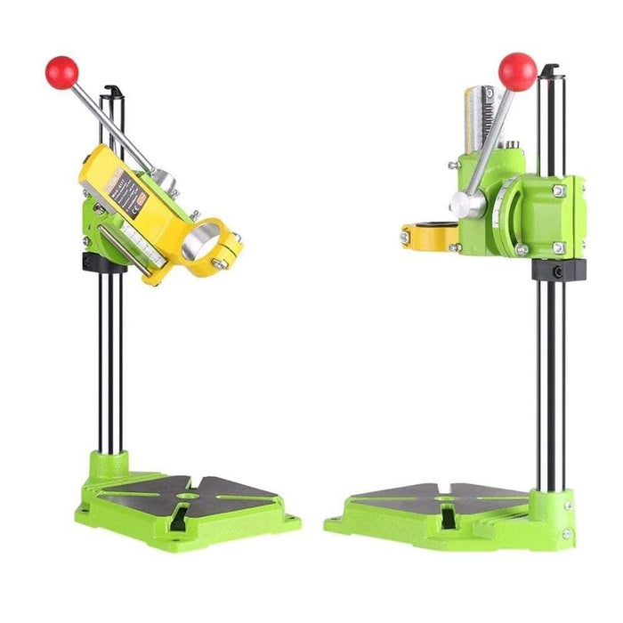 MithBros Mini Electric Drill Carrier Bracket Bench Drill Stand/Press 90 Degree Rotating Fixed Frame Work Bench Clamp BG-6117