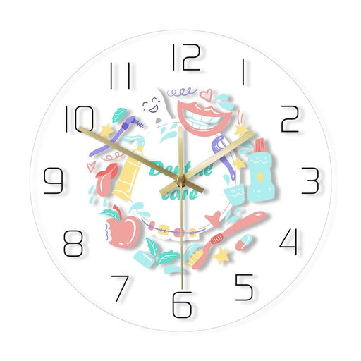 Dental Care Dentist Office  Wall Clock Stomatology Print Wall Watch Oral Medicine Dental Clinic Decoration Dentistry Gift Idea
